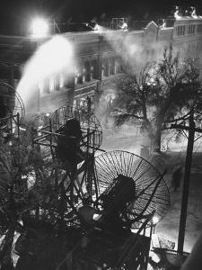 "Machines Making Snow and Wind on Set of the Movie ""It's a Wonderful Life"" by Martha Holmes"