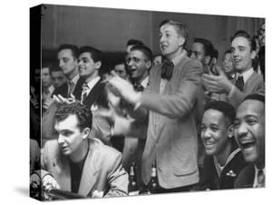 People Cheering Singer Ella Fitzgerald During Opening Night of Bop City by Martha Holmes