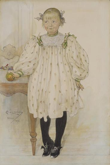 Martha Winslow as a Girl, 1896-Carl Larsson-Giclee Print