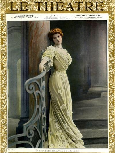 Marthe Brandes, Front Cover of 'Le Theatre' Magazine, 1904-Reutlinger Studio-Giclee Print