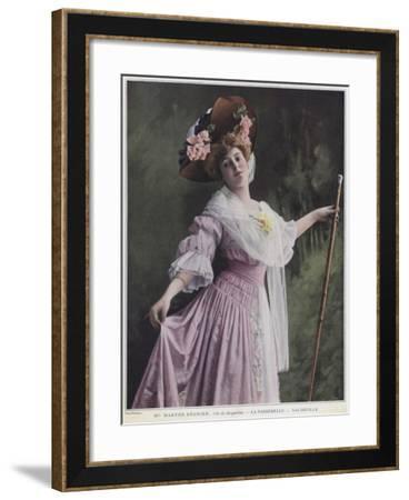 Marthe Regnier as Jacqueline in La Passerelle--Framed Giclee Print