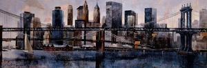 Brooklyn and Manhattan Bridges by Marti Bofarull