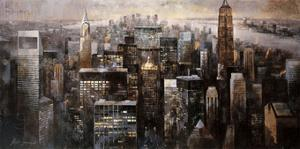 Manhattan by Night by Marti Bofarull