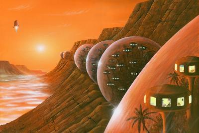 Martian Colony, Artwork-Richard Bizley-Photographic Print