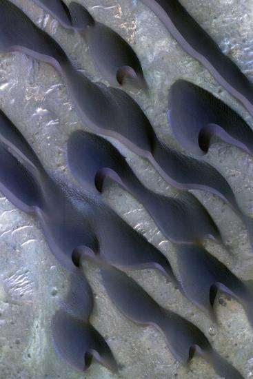 Martian Sand Dunes, Satellite Image--Photographic Print