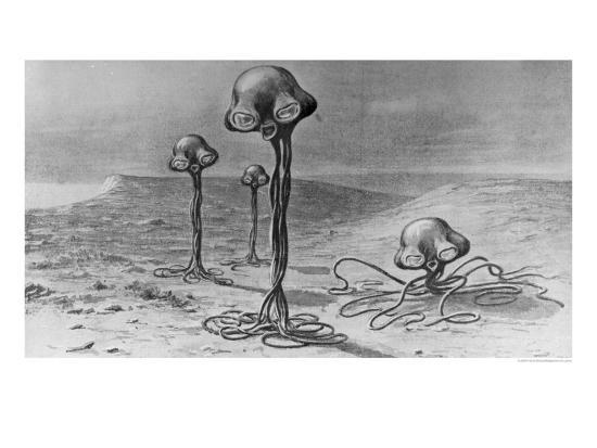 Martians Illustration From The War Of The Worlds By H G Wells