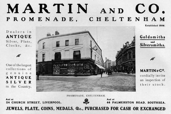 'Martin and Co., Promenade, Cheltenham', 1909-Unknown-Photographic Print