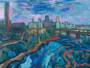 The Mississippi at Minneapolis by Martin Bloch