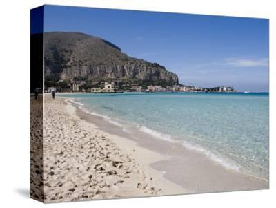 Beach, Mondello, Palermo, Sicily, Italy, Mediterranean, Europe