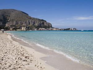 Beach, Mondello, Palermo, Sicily, Italy, Mediterranean, Europe by Martin Child