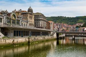 Bilbao-Abando Railway Station and the River Nervion, Bilbao, Biscay (Vizcaya) by Martin Child