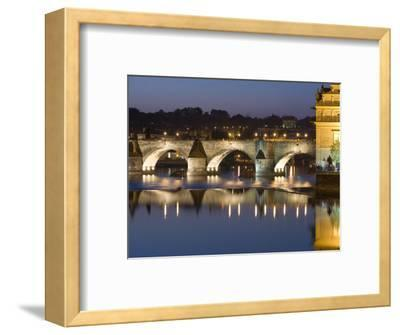 Charles Bridge and Smetana Museum Reflected in the River Vltava, Old Town, Prague, Czech Republic