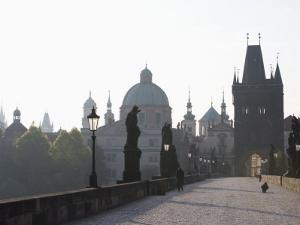 Charles Bridge, Church of St. Francis Dome, Old Town Bridge Tower, Old Town, Prague, Czech Republic by Martin Child