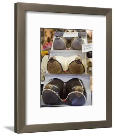 Chocolate Breasts in Shop Window, Bruges, Belgium, Europe