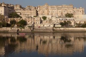 City Palace Museum in Udaipur Seen from Lake Pichola, Udaipur, Rajasthan, India, Asia by Martin Child