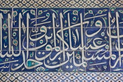 Decorative Tiles in Topkapi Palace, Istanbul, Turkey, Western Asia