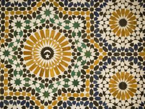 Detail of Zellij Tilework, Musee De Marrakech, Marrakech, Morocco, North Africa, Africa by Martin Child