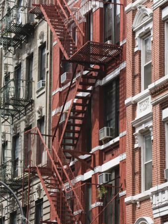 Fire Escapes, Chinatown, Manhattan, New York, United States of America, North America