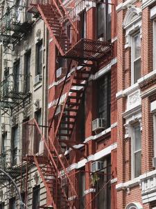 Fire Escapes, Chinatown, Manhattan, New York, United States of America, North America by Martin Child