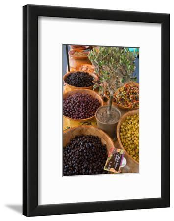 Fresh Olives for Sale at a Street Market in the Historic Provence Town of Eygalieres, France