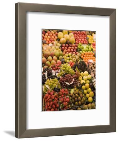 Fruit and Vegetable Display, La Boqueria, Market, Barcelona, Catalonia, Spain, Europe