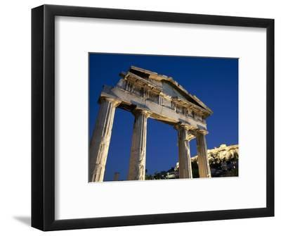 Gate of Athena Archegetis and the Acropolis at Night, UNESCO World Heritage Site, Athens, Greece, E