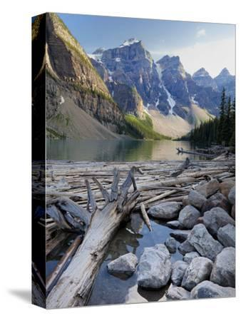 Log Jam on Moraine Lake, Banff National Park, UNESCO World Heritage Site, Alberta, Rocky Mountains,
