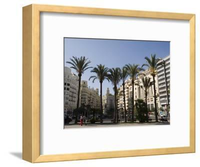 Plaza Ayuntamiento, Palm Trees, Buildings, Valencia, Mediterranean, Costa Del Azahar, Spain, Europe