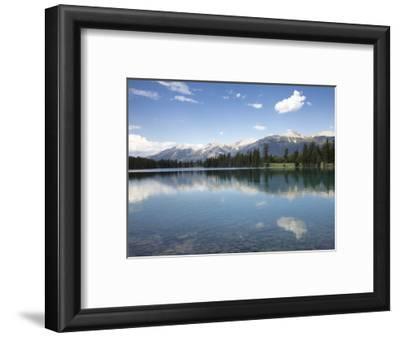 Reflections in Lake Beauvert, Jasper National Park, UNESCO World Heritage Site, British Columbia, R