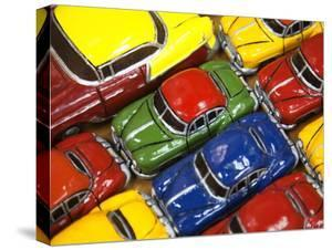 Rows of Colourful Model Traditional American Cars For Sale to Tourists, Old Havana, Cuba by Martin Child