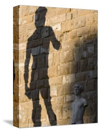 Shadow of Statue of David, Piazza Della Signoria, Florence, Tuscany, Italy, Europe
