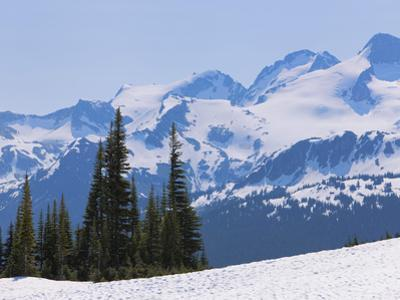 Snow Covered Mountains Near Whistler, British Columbia, Canada, North America by Martin Child