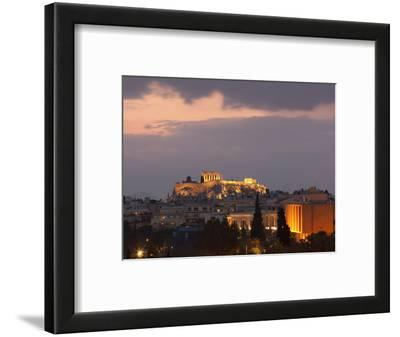 Sunset over the Acropolis, UNESCO World Heritage Site, Athens, Greece, Europe