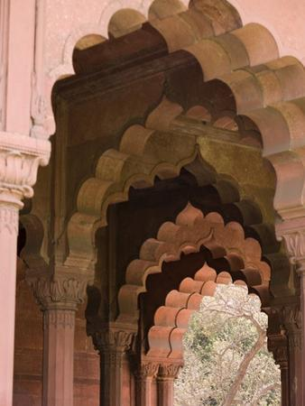The Arches of Diwan-I-Aam, Red Fort, Old Delhi, India, Asia