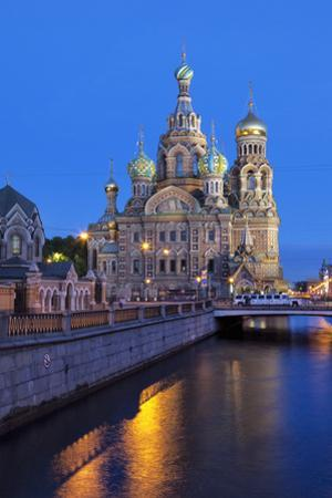 The Church on Spilled Blood, UNESCO Site, on Kanal Griboedova, St. Petersburg, Russia