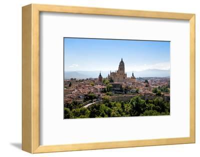 The Imposing Gothic Cathedral of Segovia Dominates the City, Segovia, Castilla Y Leon, Spain