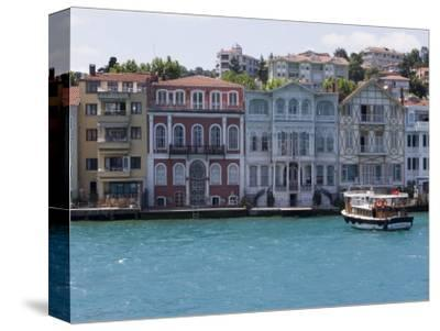 The Restored Waterfront Buildings of Yenikoy on the Bosphorus, Istanbul, Turkey, Europe