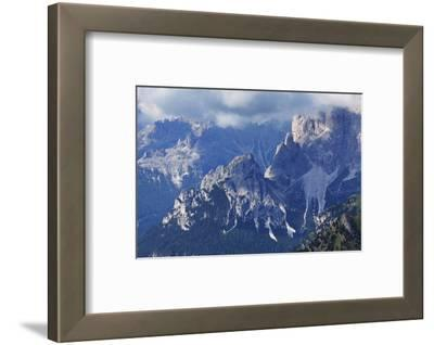 The Rugged Rosengarten Peaks in the Dolomites Near Canazei, Trentino-Alto Adige, Italy, Europe