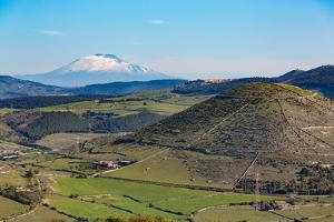 The Sicilian Landscape with the Awe Inspiring Mount Etna by Martin Child