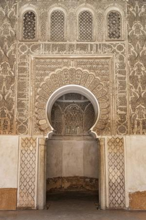 Traditional Decorative Plaster Carving in the Ben Youssef Medersa