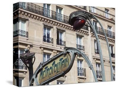 Traditional Parisian Metro Sign, Paris, France, Europe