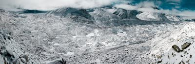 Panoramic view of the Khumbu glacier, currently the highest altitude glacier in the world. by Martin Edstrom