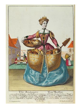 A Baker, C.1735 (Coloured Engraving)