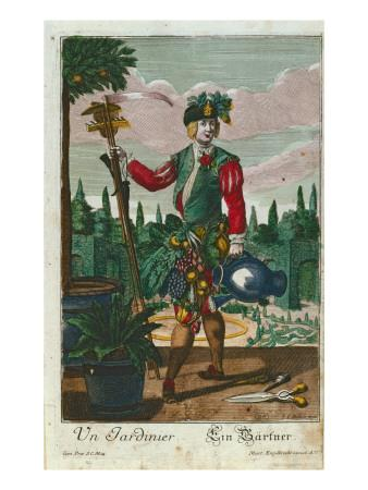 A Gardener, Allegorical Representation, C.1735