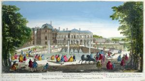 View of the Chateau de Saint-Cloud Near Versailles, Mid 18th Century by Martin Engelbrecht