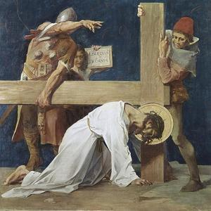 Jesus Falls the Second Time (7th Station of the Cross) 1898 by Martin Feuerstein