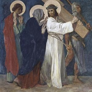 Jesus Meets His Mother (4th Station of the Cross) 1898 by Martin Feuerstein