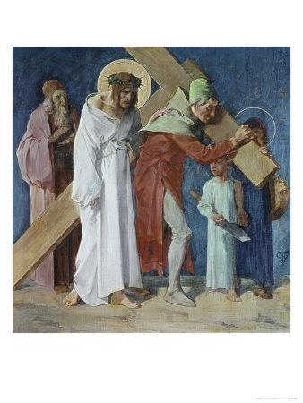 Simon of Cyrene Helps Jesus 5th Station of the Cross