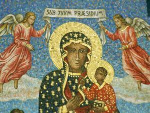 Mosaic Rendering of the Famous Black Madonna of Czestochowa Icon by Martin Gray