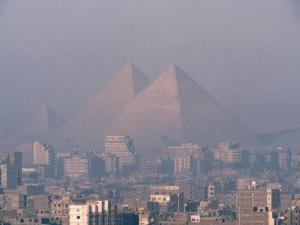 Pyramids at Giza and Cairo in the Foreground by Martin Gray